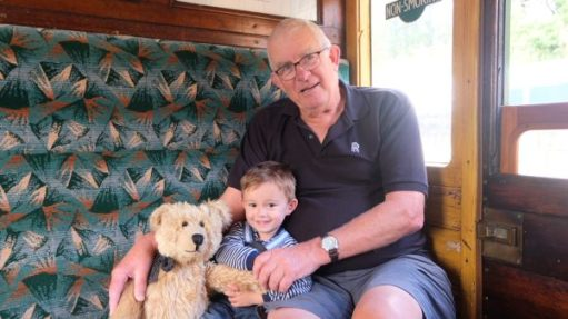 From a Railway Carriage: Never too old (or young) to play on trains!