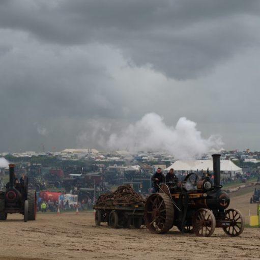 Great Dorset Steam Fair: Dodgy weather.