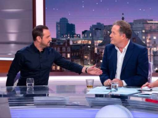 Danny Dyer & Piers Morgan.