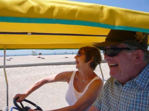 Flirting with GAD (Generalised Anxiety Disorder): Laughing at Santa Monica.