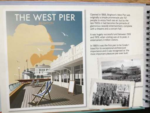 Big Birthday Bash: Information Poster about the West Pier.