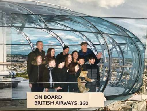 Big Birthday Bash: Souvenir Photo on board the British Airways i360.