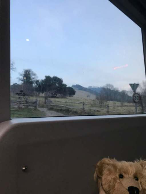 Finding Serenity: Boxhill from the 465 (Is that the moon?)