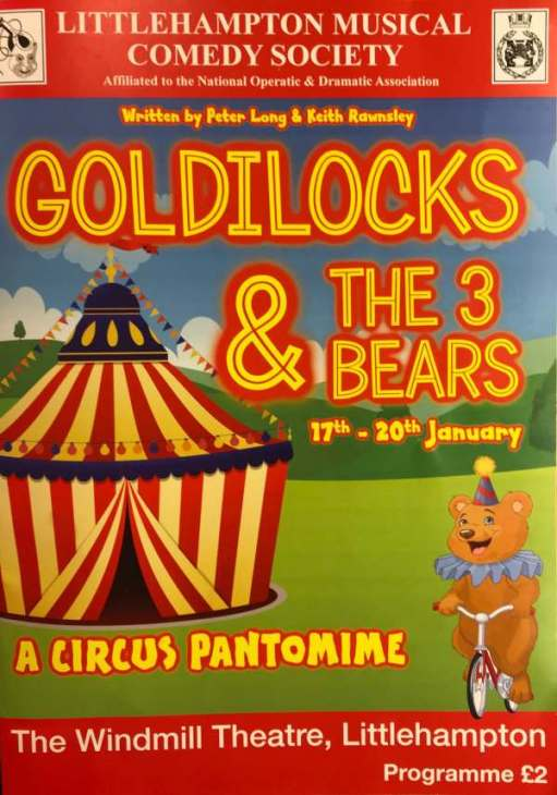 Goldilocks and the Three Bears: And, finally, here is the programme. Just £2. Show that to Drury Lane!