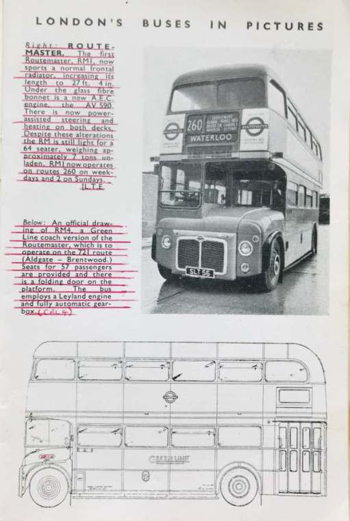 And here is the Ian Allen description of London's Bus for the Future.