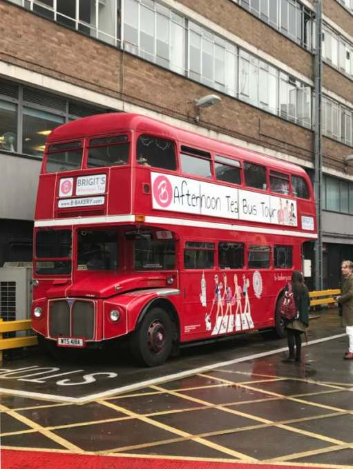 Routemaster: Afternoon tea! Gingham table cloths?