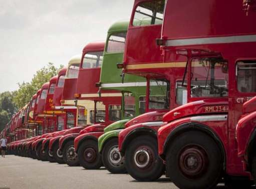 All Routemasters in preservation.