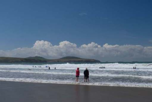 Tick tock. Go for a paddle. Whitesands Bay, Pembrokeshire.