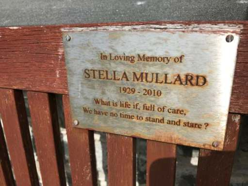Tick tock. The seat outside St Non's Chapel.