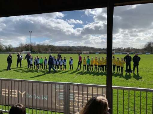 We Won the Cup: The teams line up.