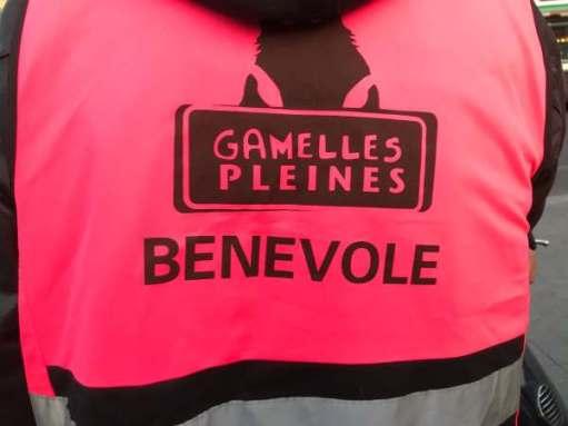 "Hi Viz Vest ""Gamelles Pleines, Benevole""."
