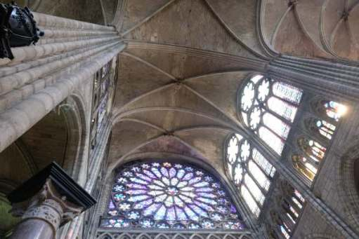 April in Paris: Roof vaulting of the Basilica of Saint-Denis.
