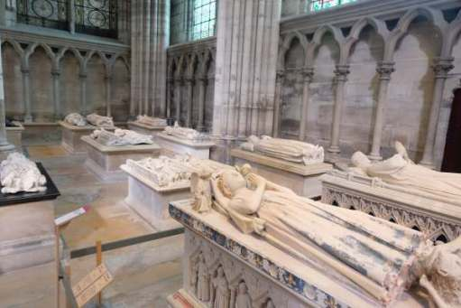 April in Paris: Graves in the Basilica of Saint-Denis.