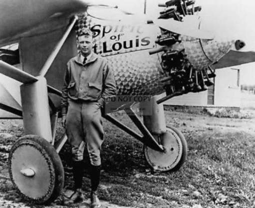 April in Paris: Charles Lindbergh in 1927 at Le Bourget. Becoming a world famous celebrity overnight for becoming the first person to fly the Atlantic solo in his tiny aeroplane the Spirit of St Louis.