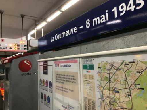 """April in PAris: """"La Courneuve - 8 mai 1945"""" Station."""