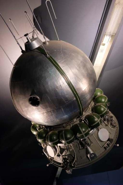 April in Paris: Soviet space craft.