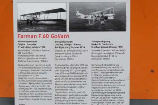 April in Paris: Details about the Farman F.60 Goliath Transport Plane.