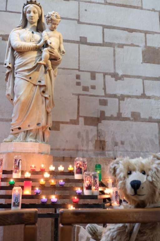 April in Paris; Lighting a Candle to Diddly at the Basilica de St Denis.