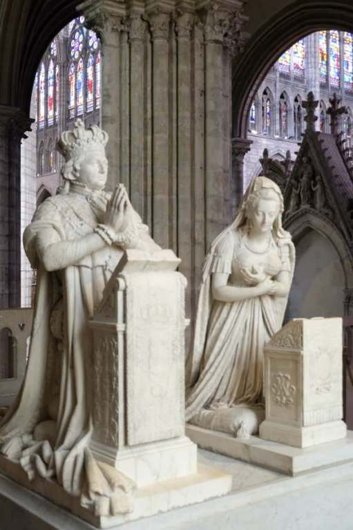 April in Paris: Statues in the Basilica of Saint-Denis.