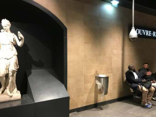 April in Paris: Louvre Metro Station.