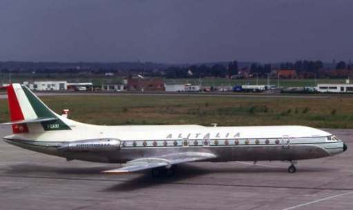 Sud Aviation SE210 Caravelle. The first airliner to have engines placed on the rear fuselage.