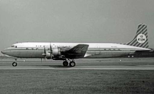 Douglas DC7C. The last piston engined airliner before the advent of jets.