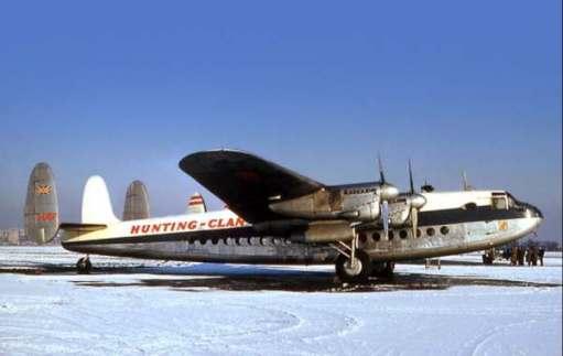 Avro York. Derived from the Lancaster bomber.