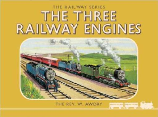 "A Day out with Thomas: The original cover to book 1 - ""The Three Railway Engines""."