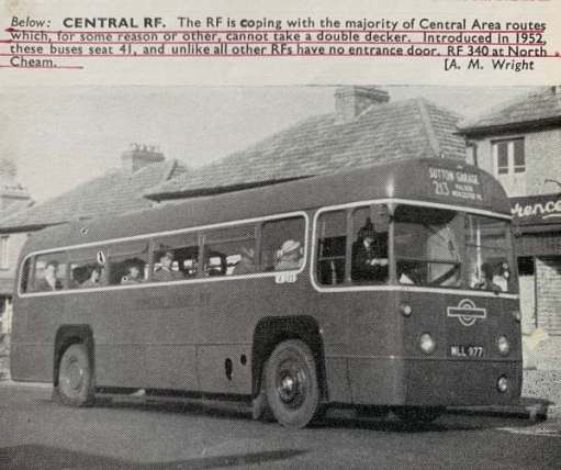 And as it was in 1954 at North Cheam. A single decker, due to low railway bridges subsequently rebuilt in later years.
