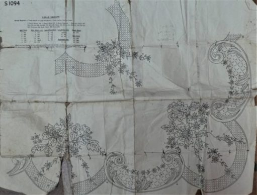 Embroidery pattern for flowers.