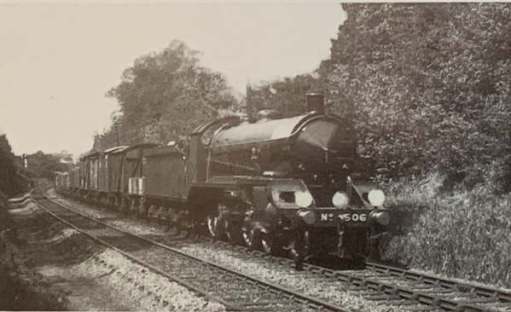 30506 in her early prime. Pulling a goods train, for which she was designed.