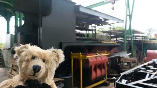 30499 awaiting restoration. Bertie is standing in front.