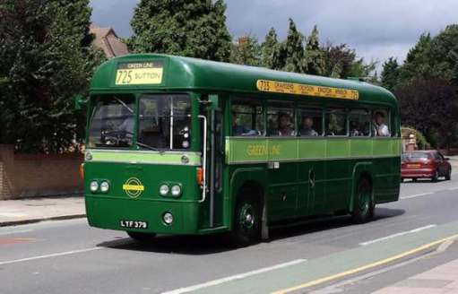 AEC Regal IV - MCW (London Transport RF28)LYF 379 The 725 Greenline. Hampton Court to Sutton.