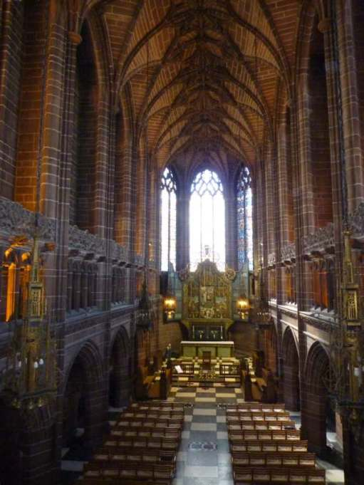Inside Liverpool Cathedral.