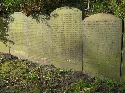 Orphans graves. Girls. Most didn't reach their teens.