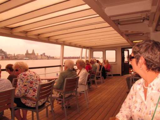 Diddley on the Mersey Ferry.