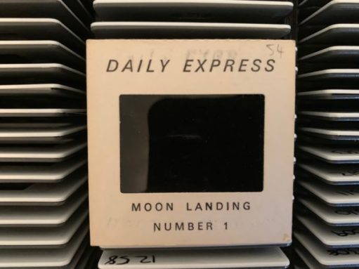 Daily Express Slide Number 1 of the Moon Landing.