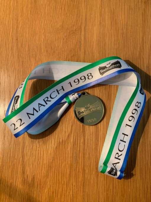 Swimathon Medal, 22 March 1998.