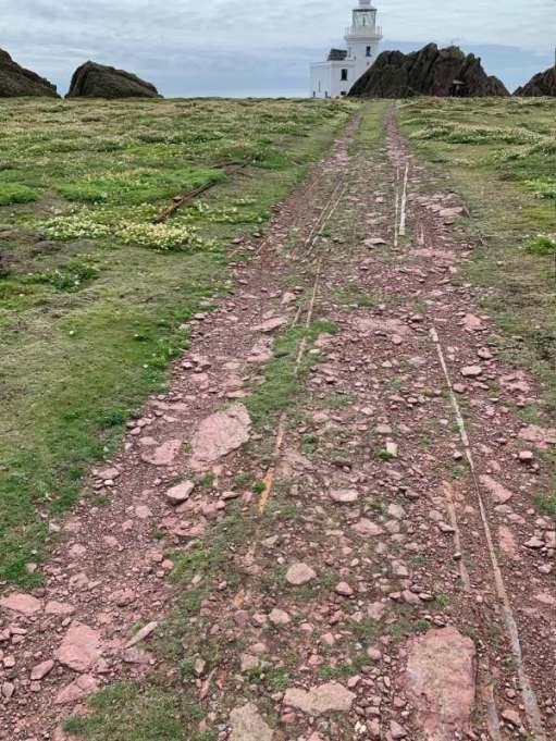 Remains of the track, where once a grumpy donkey toiled.