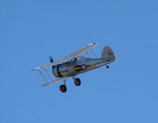 Gloster Gladiator at Duxford Airshow 2019.