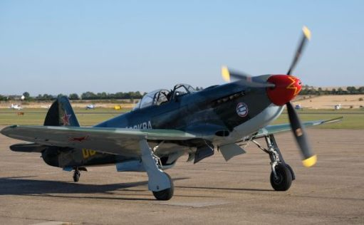 Yakolev YAK-9 on the tarmac at Duxford Airshow 2019.