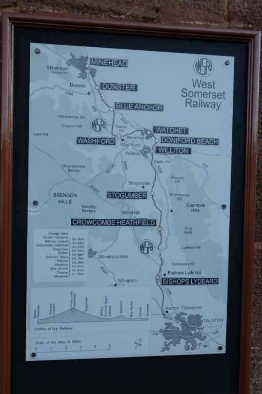 West Somerset Railway: A Map of the line and its stations.