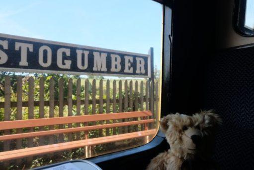 West Somerset Railway - Bertie sat in his window seat at Stogumber Station.