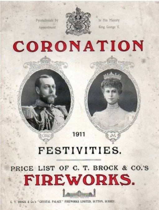 Price list for Fireworks for the Coronation festivities.