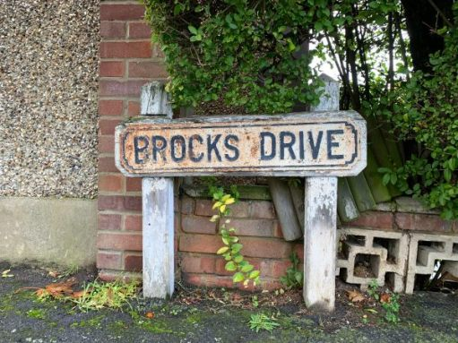 Road Sign: Brocks Drive.