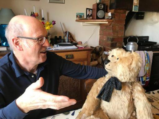 Chris telling Bertie the story.