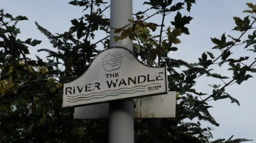 Sign for the River Wandle.