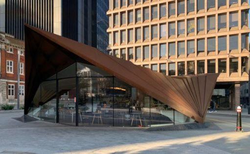 The Kahaila Café, Portsoken Pavilion, Aldgate Square.