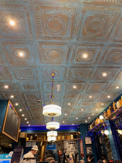 """Ornate ceiling in """"Jack the Chipper""""."""