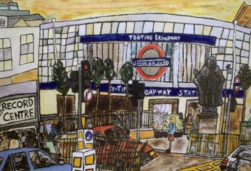 Drawing of Tooting Broadway station.